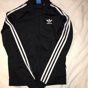Adidas crew neck black zip up